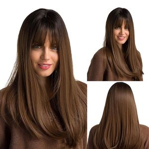 NEW Brown Wig with Bangs
